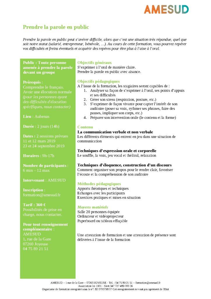 OF - Prendre la parole en public @ Aubenas | Joyeuse | Auvergne-Rhône-Alpes | France